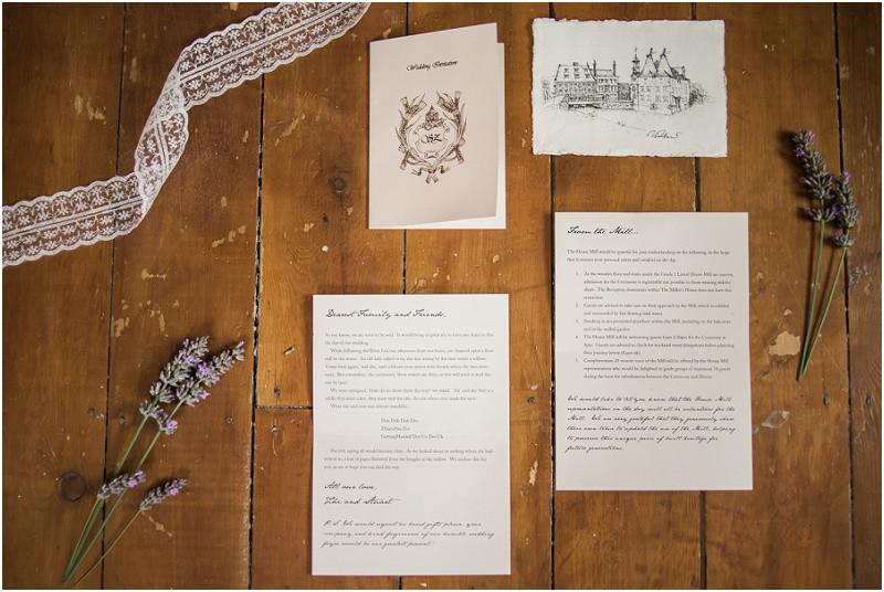 Hand made wedding invites