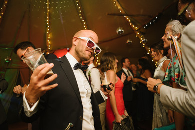 Wedding dancefloor tipi wedding