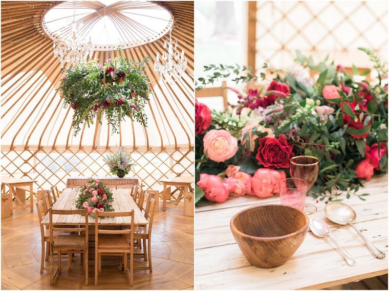 Wedding Yurts styling sneek peak