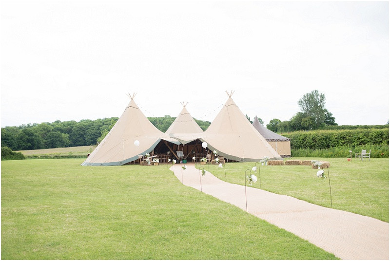 Peak tipi rustic wedding tipi