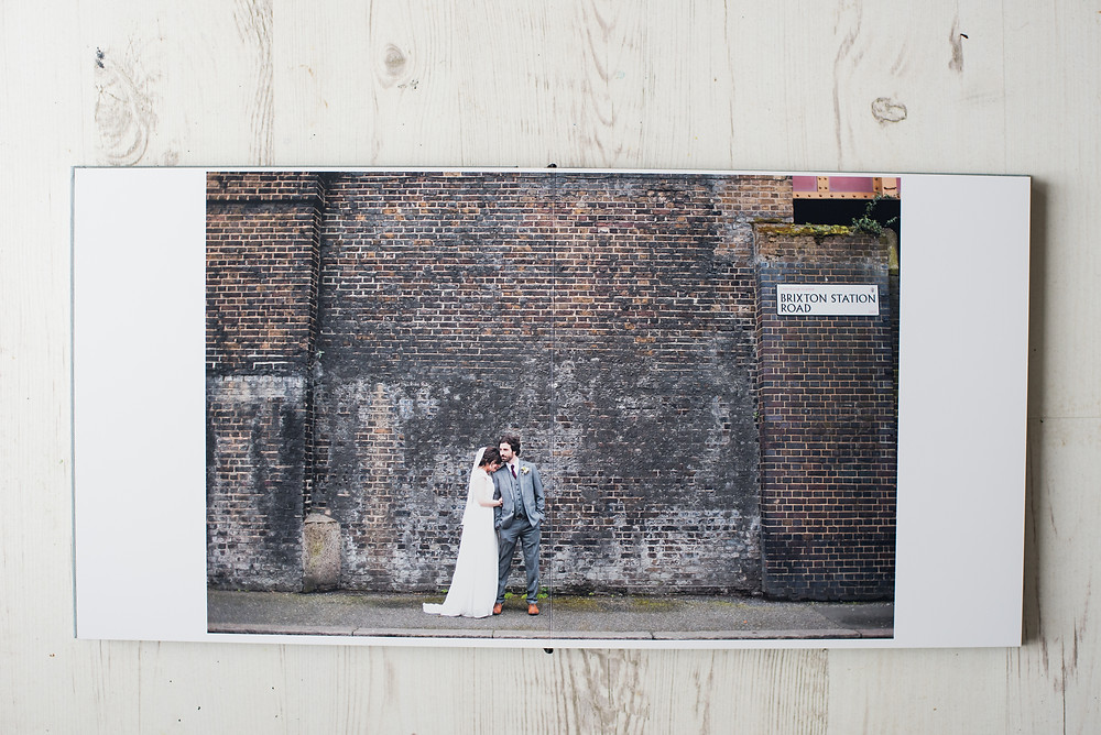 Wedding fine art Photography album of a wedding at Brixton East
