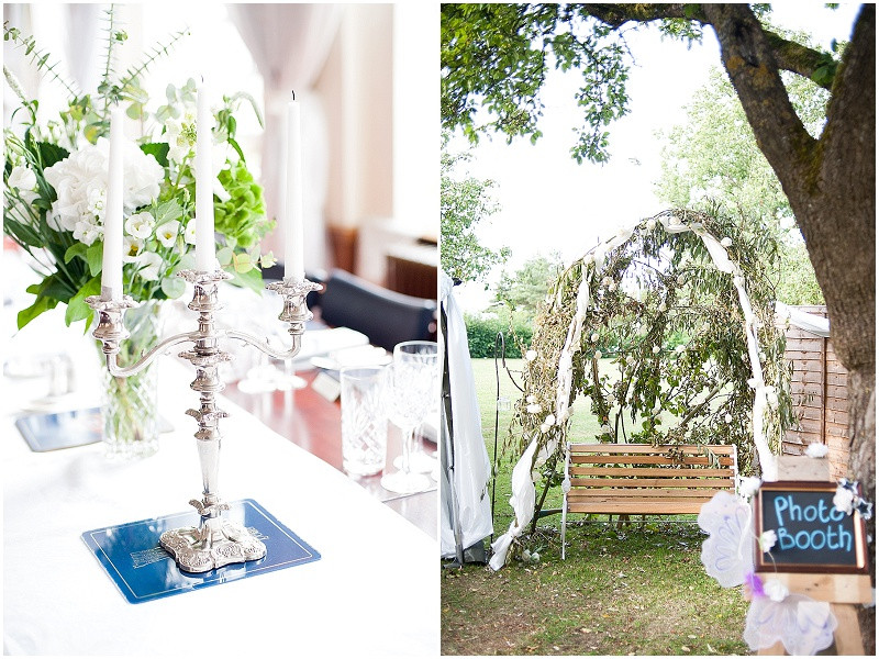 homemade photo booth for a boho wedding in Malmesbury
