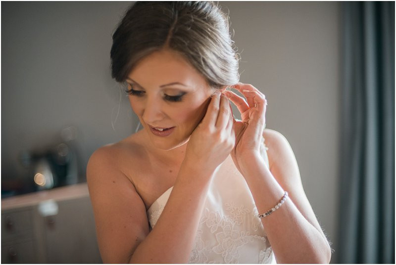 bride getting ready for cool, laidback wedding at Oh Me Oh My  Liverpool wedding