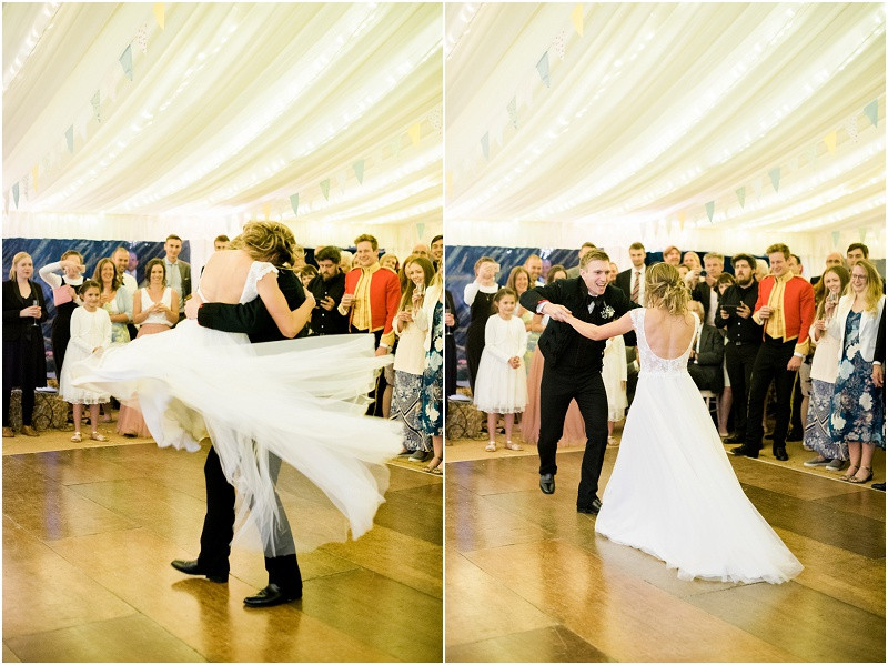 Cotswolds marquee wedding Oxford first dance