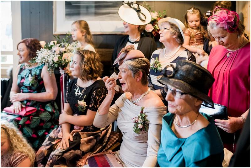 Beach wedding Llys Meddyg Pembrokeshire ceremony