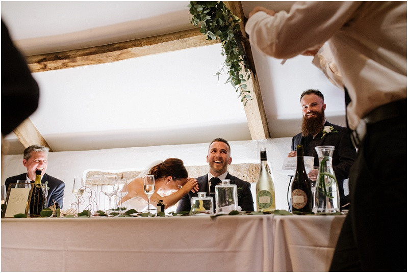 An elegant summer wedding at Pennard house in Somerset speeches