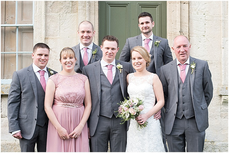 winter wedding in grey and pink at The Moonraker