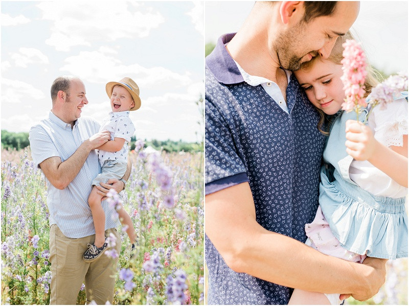 Confetti flower fields photo shoots kids laughing in a field of flowers