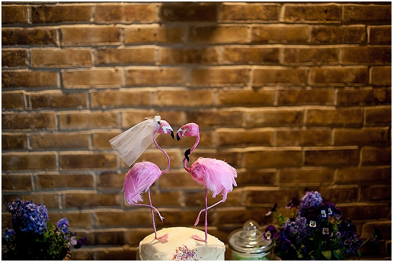 flamingo wedding cake topper Rock my Wedding