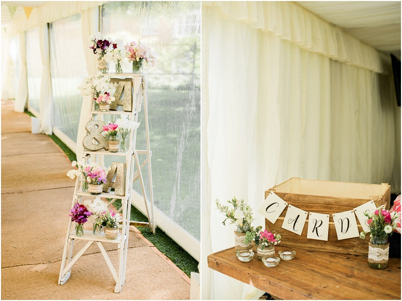 Cotswolds marquee wedding Oxford boho flowers