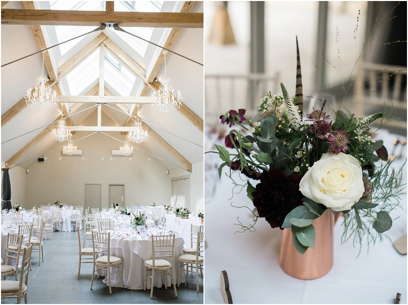 Calligraphy wedding stationary and flowers by Jennry Fleur at Blackwell Grange Cotswolds wedding venue by Gloucestershire wedding photographer