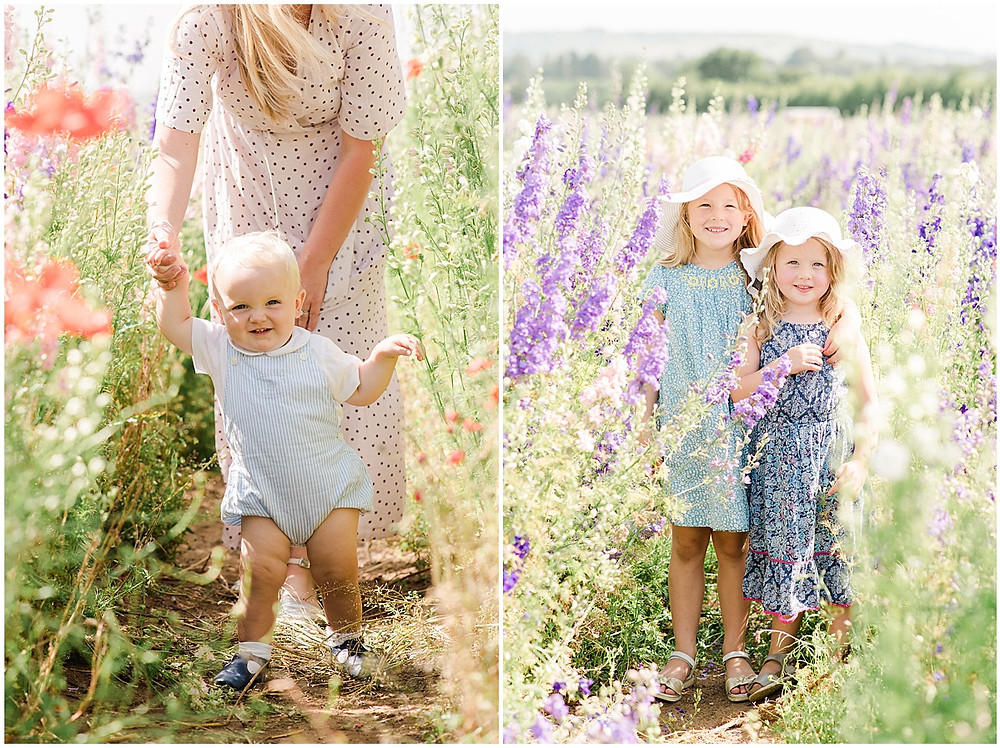Cotswolds family photographer shoot at the confetti fields