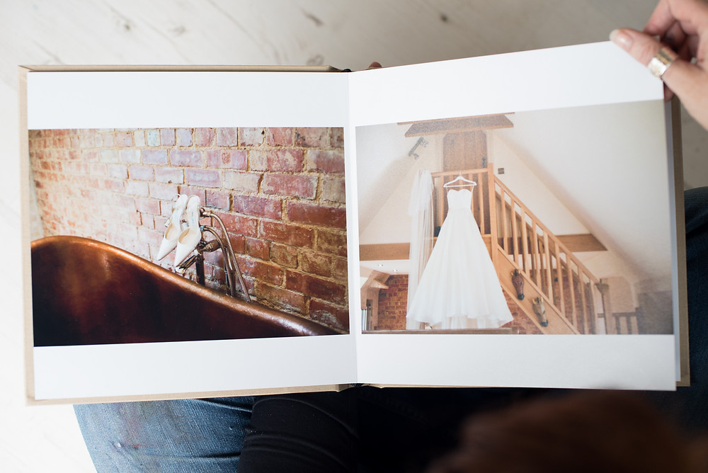 Loxley Photography wedding album of a wedding Doford Manor
