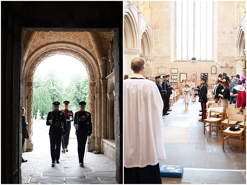 A military wedding at Malmesbury Abbey