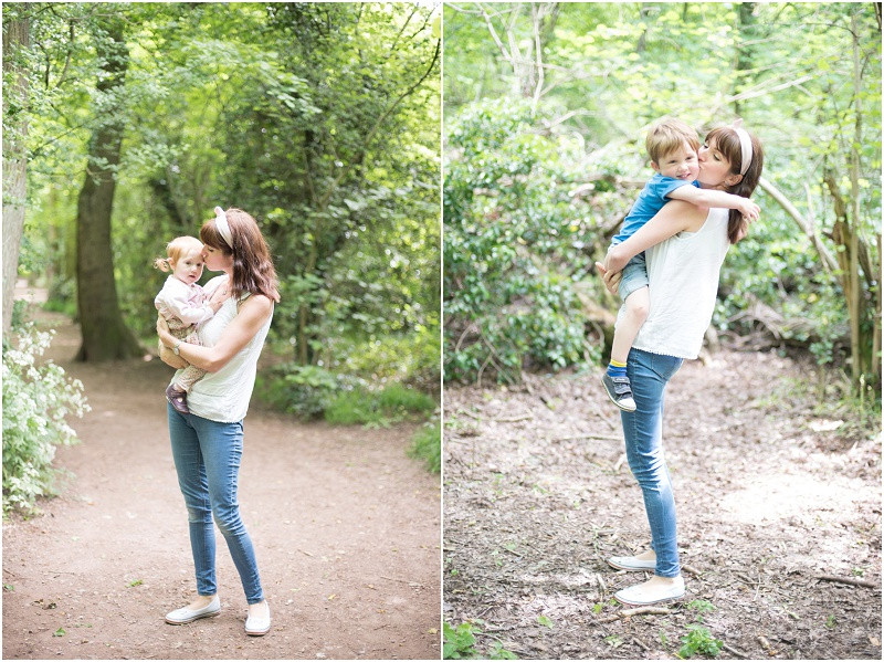Cotswolds family photographer mother and daughter Worcester Woods