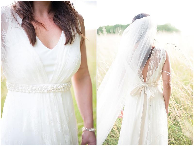A charlie brear wedding dress for a Malmesbury boho wedding
