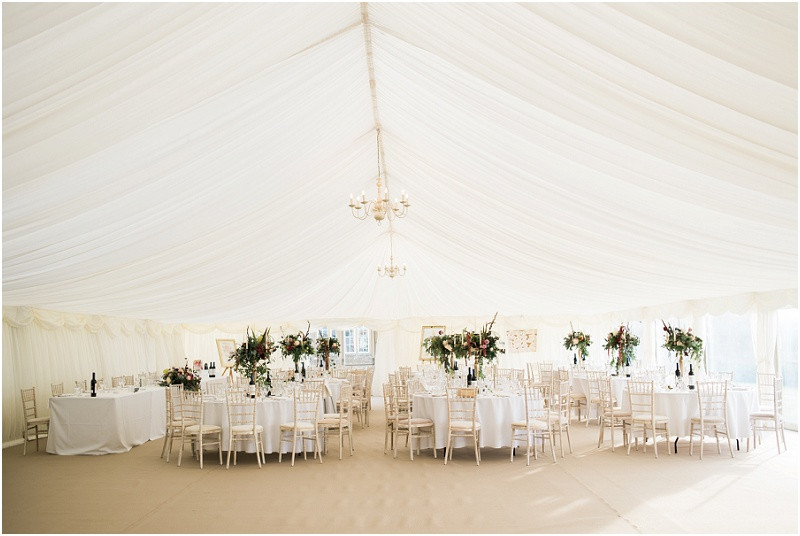 Hilles House Cotswolds marquee wedding venue Autumn wedding