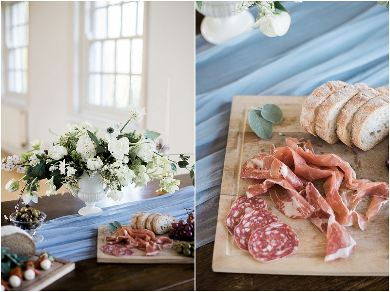 Cotswolds marquee wedding venue white simplicity fine art wedding tapas