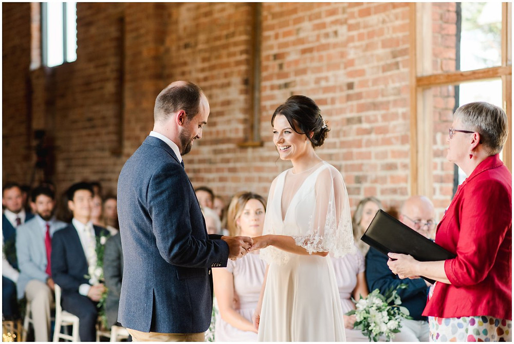 Ceremony at Mickleton Hills Farm wedding venue