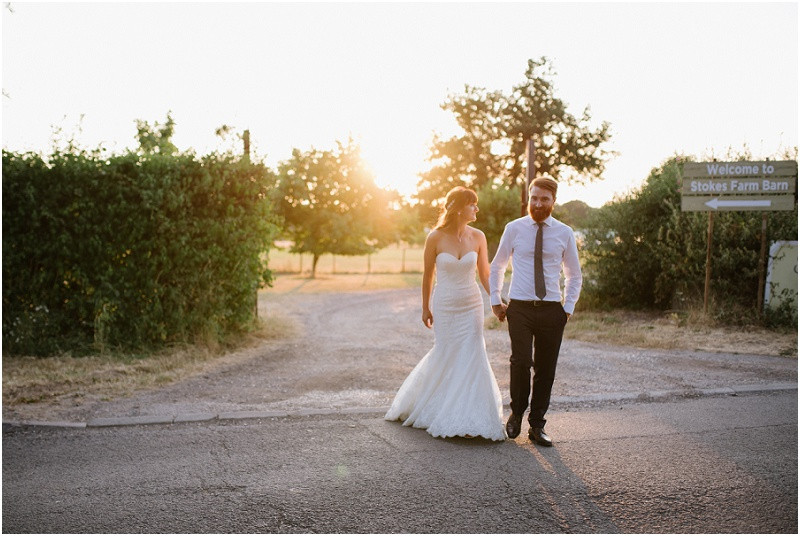A laid back wedding with macrame and succulents at Stokes Farm Barn Berkshire