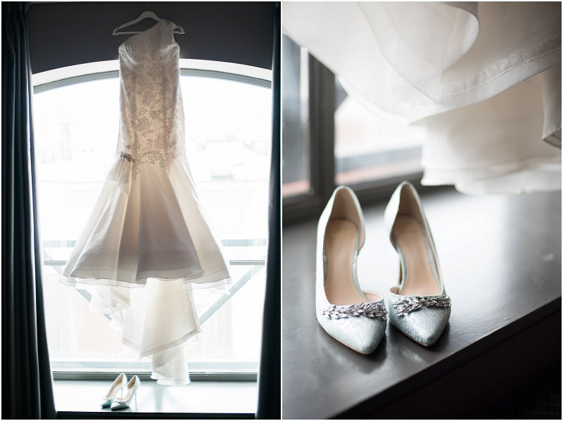 wedding dress and laboutin shoes for cool, laidback wedding at Oh Me Oh My Liverpool