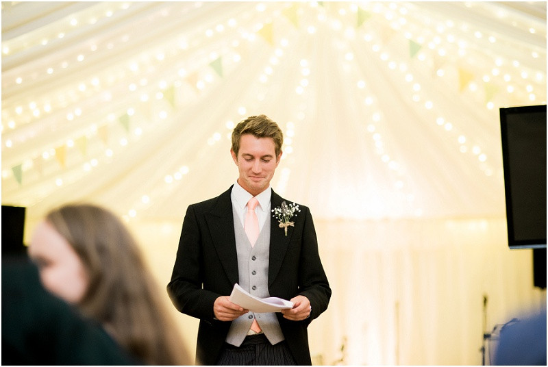 Cotswolds marquee wedding Oxford speeches