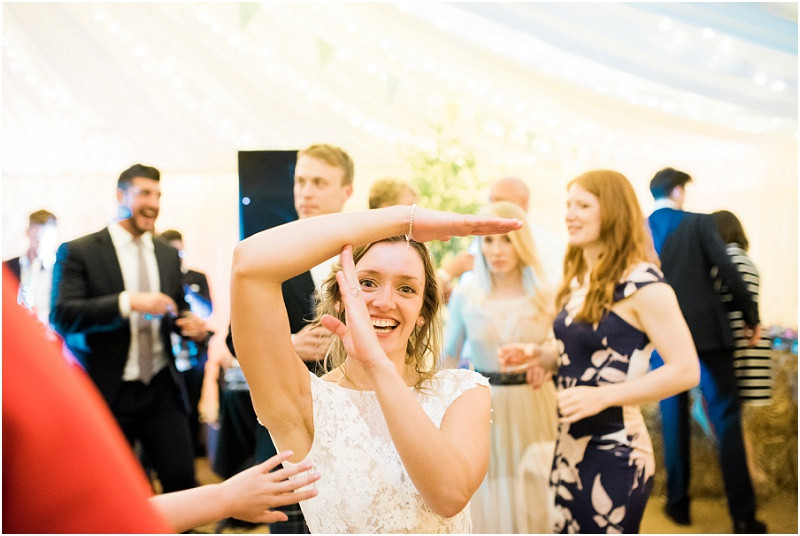 Cotswolds marquee wedding Oxford bride dancing