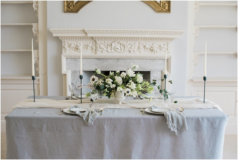 Cotswolds marquee wedding venue white simplicity fine art wedding styling