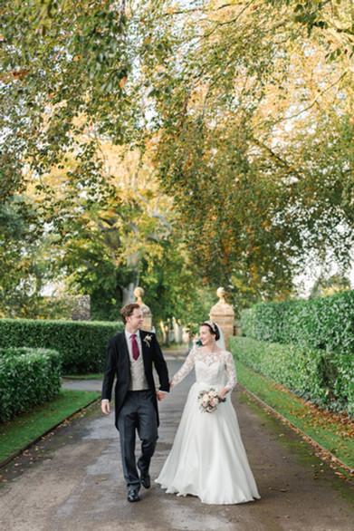 Bride and groom at North Cadbury Court wedding venue