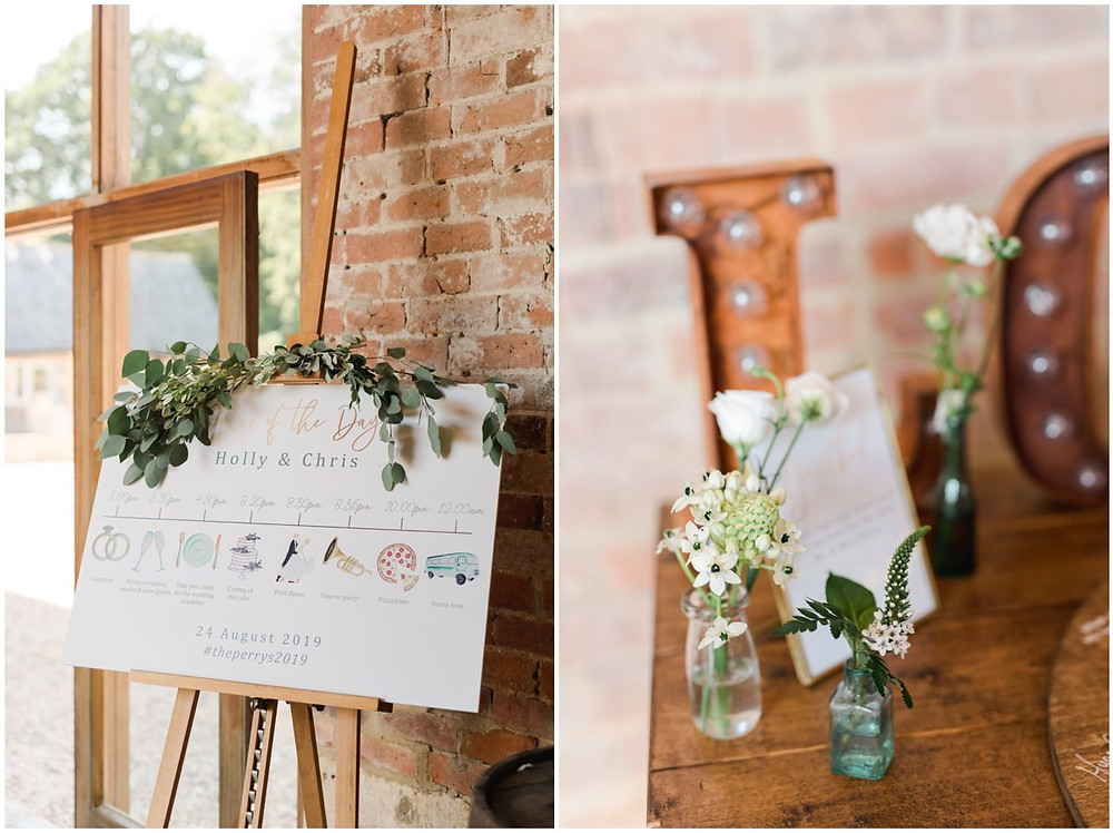 Table plan at Cotswolds wedding venue MIckleton Hills Farm
