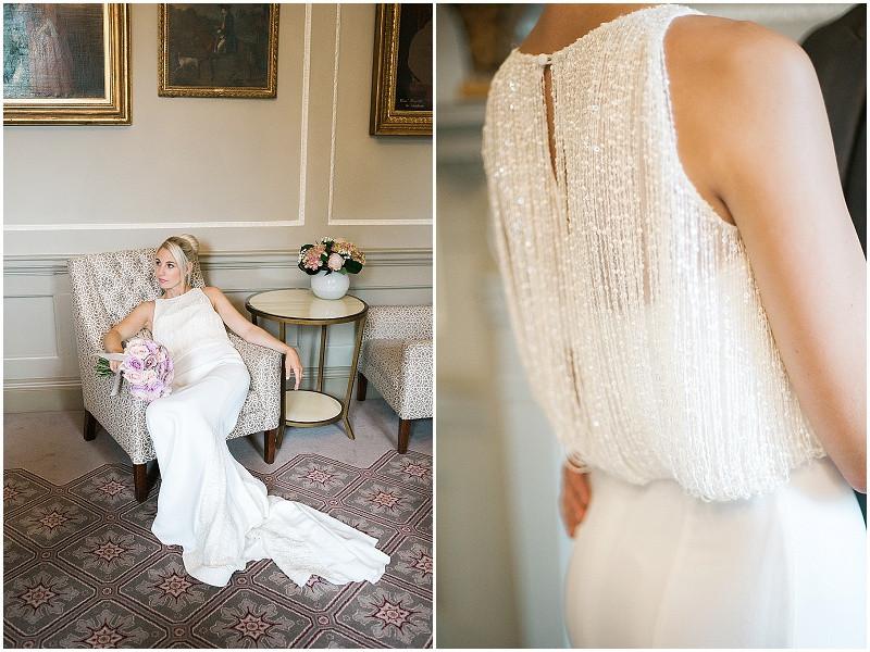 Bath Royal crescent elegant wedding with blush pink roses
