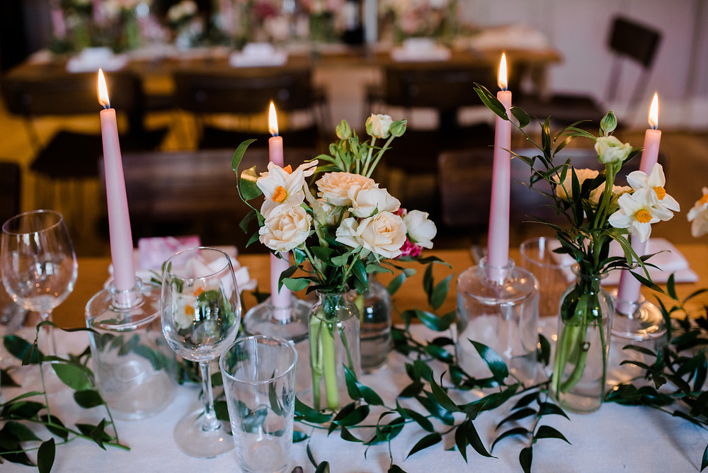 Gloucestershire wedding photographer at The Square Club Bristol for a laid back wedding full of candles and flowers