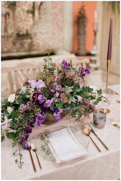 Elegant table setting for Cotswolds wedding at Lost Orangery Euridge