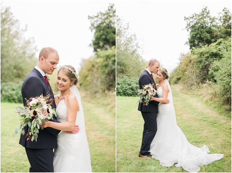 elegant bride and groom at Cotswolds wedding venue Blackwell grange by Gloucestershire wedding photographer