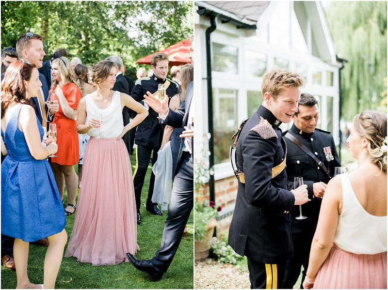 Cotswolds marquee military wedding Oxford