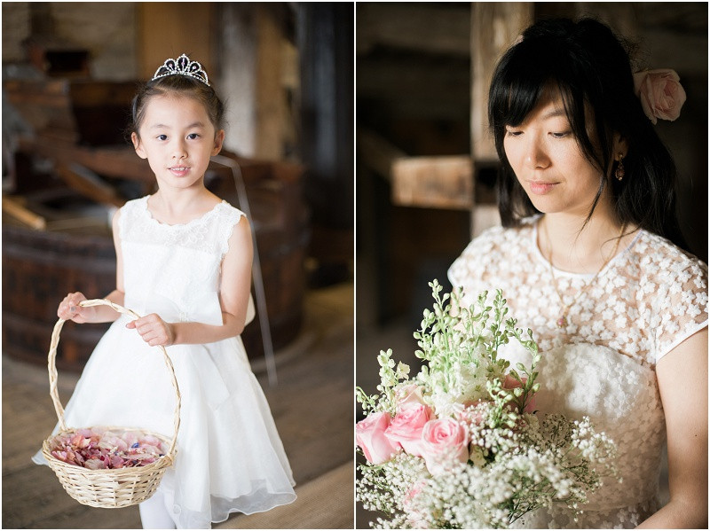 Flower girl at London wedding The House Mill Bromley by Bow
