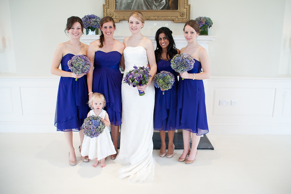stubton hall wedding bride and bridesmaids