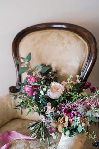 boho fine art wedding bouquet at Cotswolds wedding