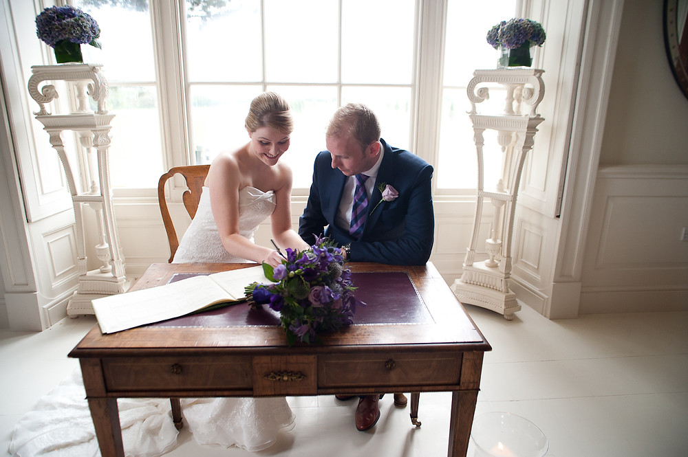 stubton hall wedding signing the register