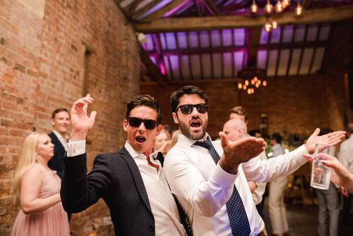 Guests dancing at Mickleton Hills Wedding Venue