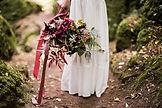 Cotswolds wedding photographer boho bride Minna wedding dress