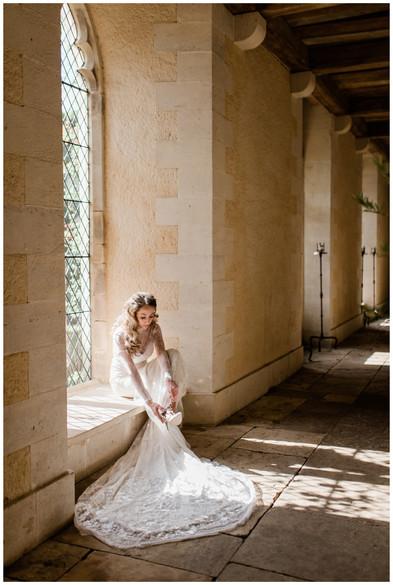 Bride at Lost Orangery wedding venue