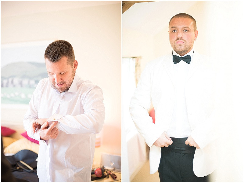 tuxedo's for gay wedding, The Outbuildings, Anglesey