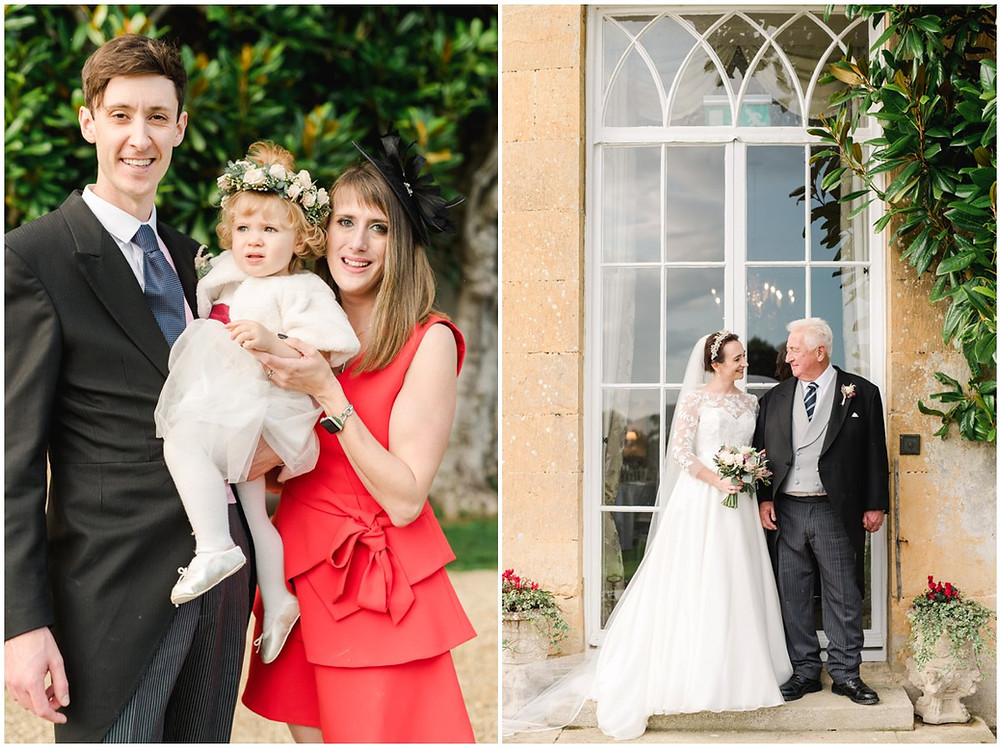 Family photos at North Cadbury Court Somerset wedding