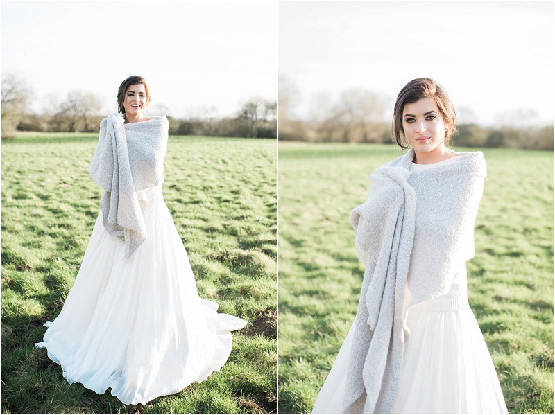 Cotswolds marquee wedding venue white simplicity fine art bride in skirt and top