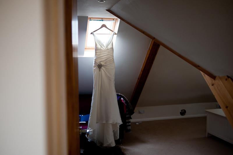 Cornwall beach wedding wedding dress