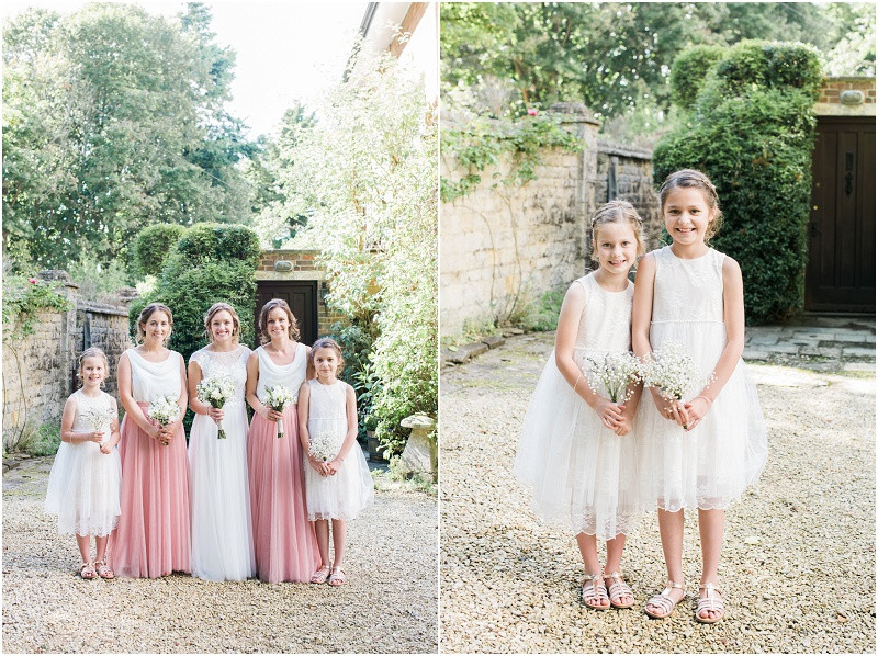 Cotswolds marquee wedding Oxford boho bridesmaids in two piece