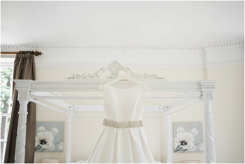 A caroline Castigiliano wedding dress for a Cotswolds wedding at Eastington Park