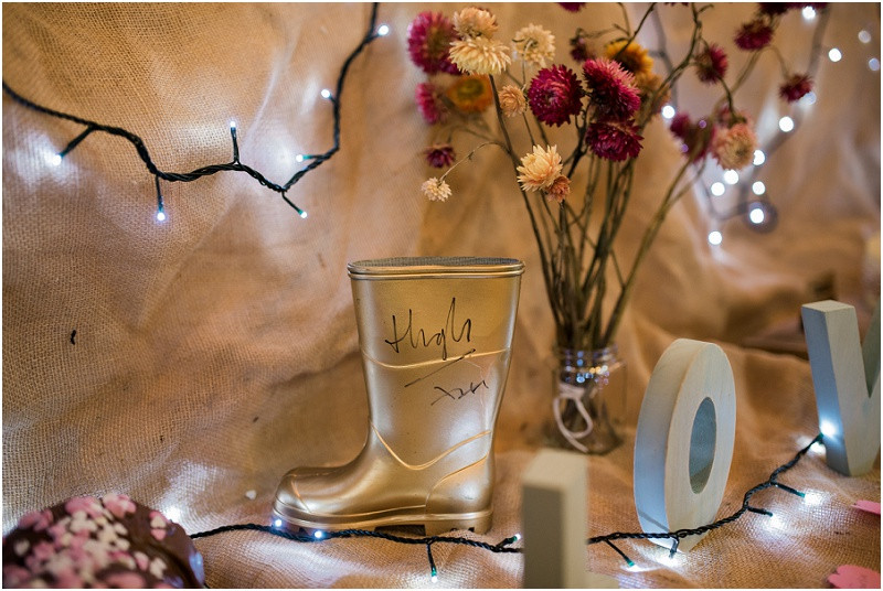 HIgh Fearnley Whittingstall golden boot at River Cottage wedding