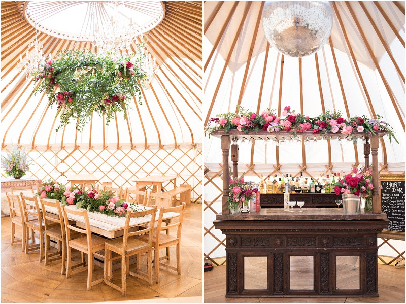 Cotswolds wedding yurt for boho wedding